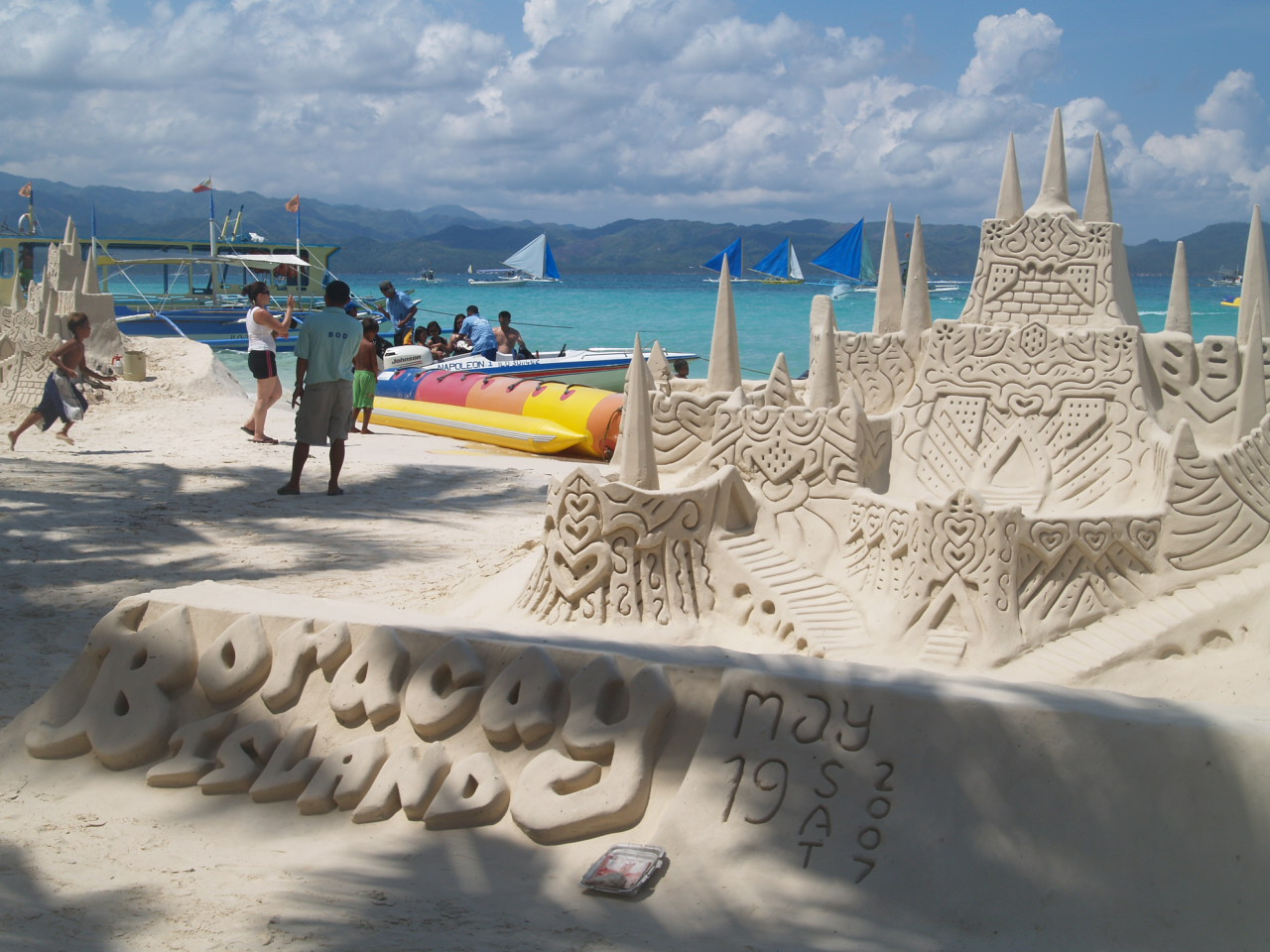 Sand Castle on The Beach Wallpaper